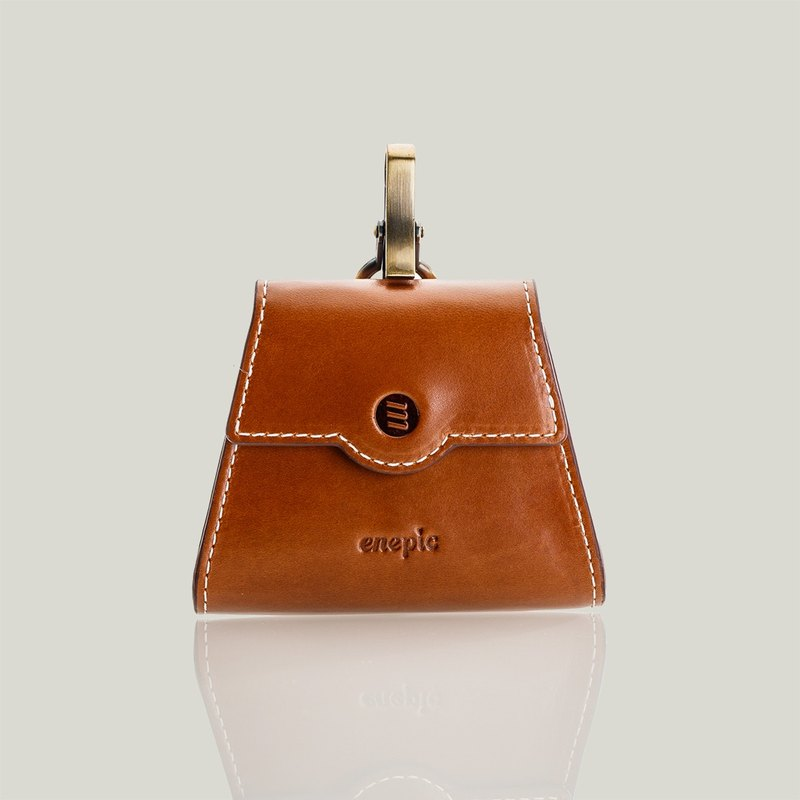 Leather leather coin purse | Sazerac - Camel [additional lettering]