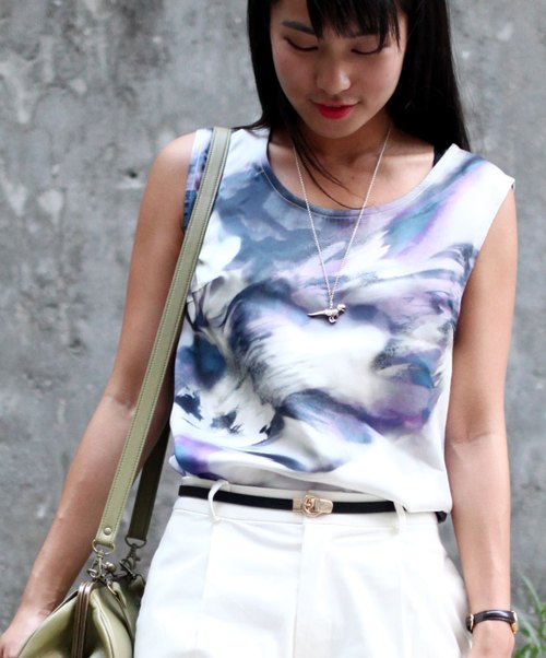 GT watercolor flowers sleeveless tops (Pre)