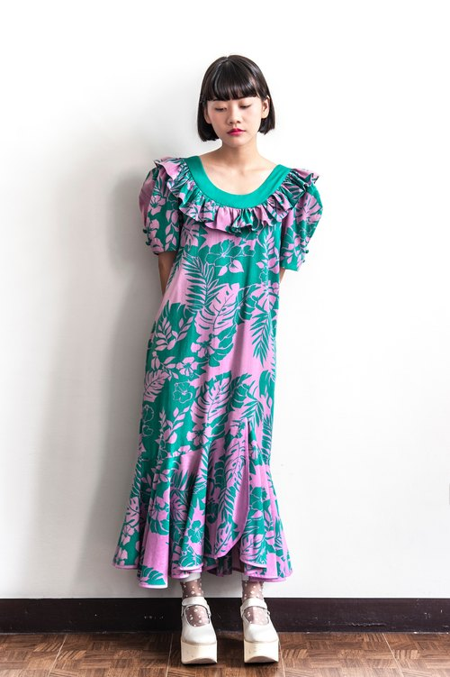Vintage Dream Hawaiian Antique Cotton Perfume Dress