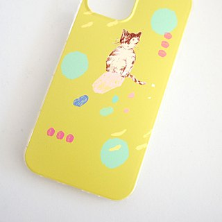 Street cat diary biscuit tabby kitten yellow green mobile phone shell iphone full range of various models custom