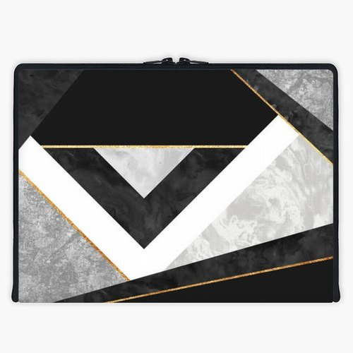 Axis - Custom 3-Sided Zipper Laptop Sleeve - Lines & Layers 2