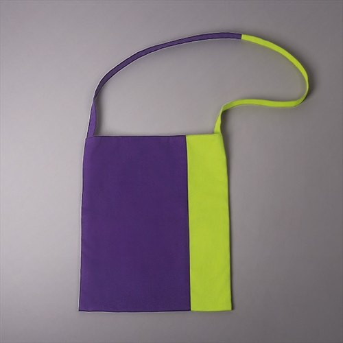Purple/ green cotton bag
