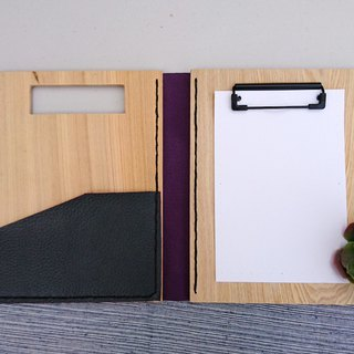 Wooden folder // noble purple