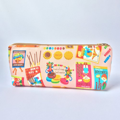Pencil Case Makeup Bag Cute Japanese Retro Snack Candies Prints