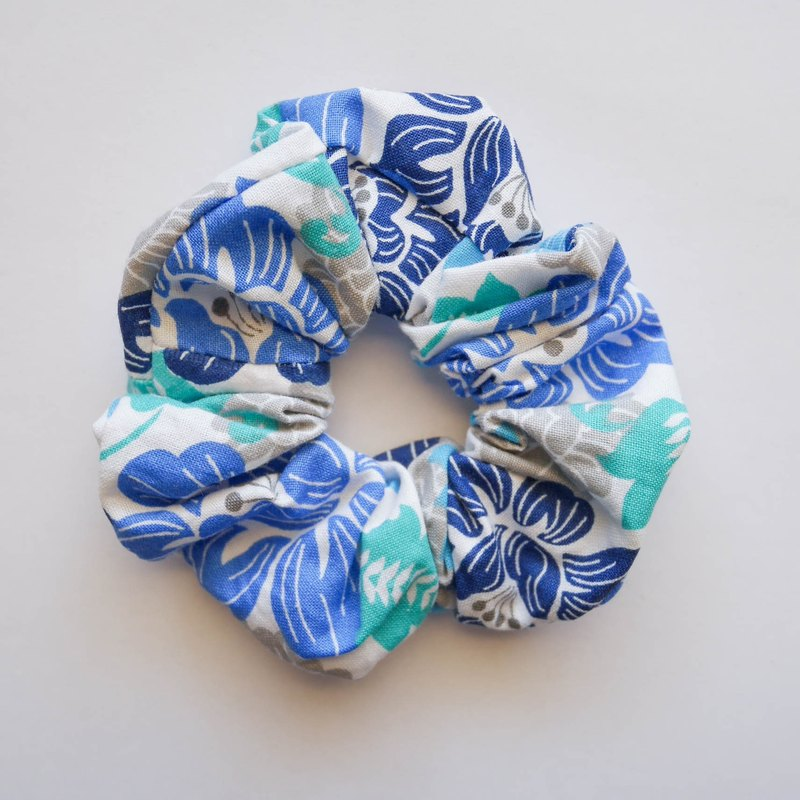 [Blue flowers hair ring]