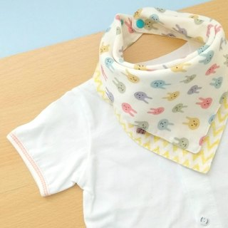 Baby Bandana Bib,口水巾,Scarf Bib,Coloful Bunny,Japanese Fabric