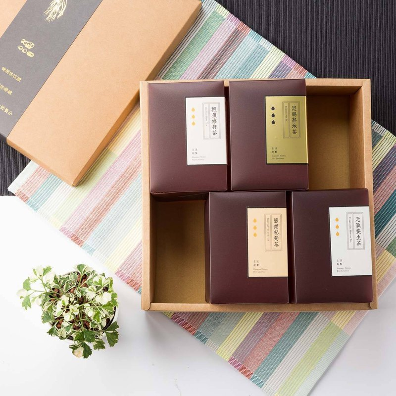 Chinese herbal tea gift set