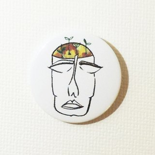 Magnetic tin badge: I'm thinking not sleeping