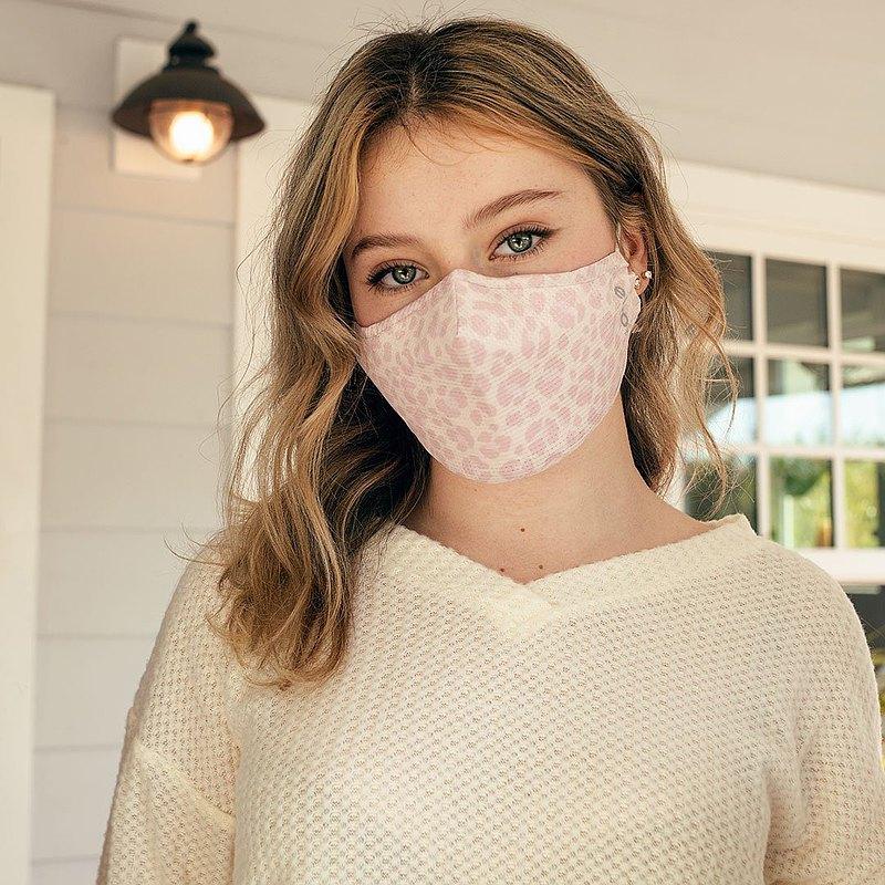心意 粉紅豹紋   可重用口罩 100洗 高效防護