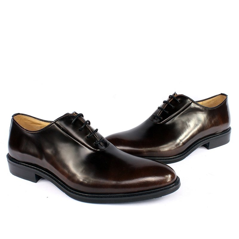 Sixlips British fashion elegant and elegant Oxford shoes bronze coffee