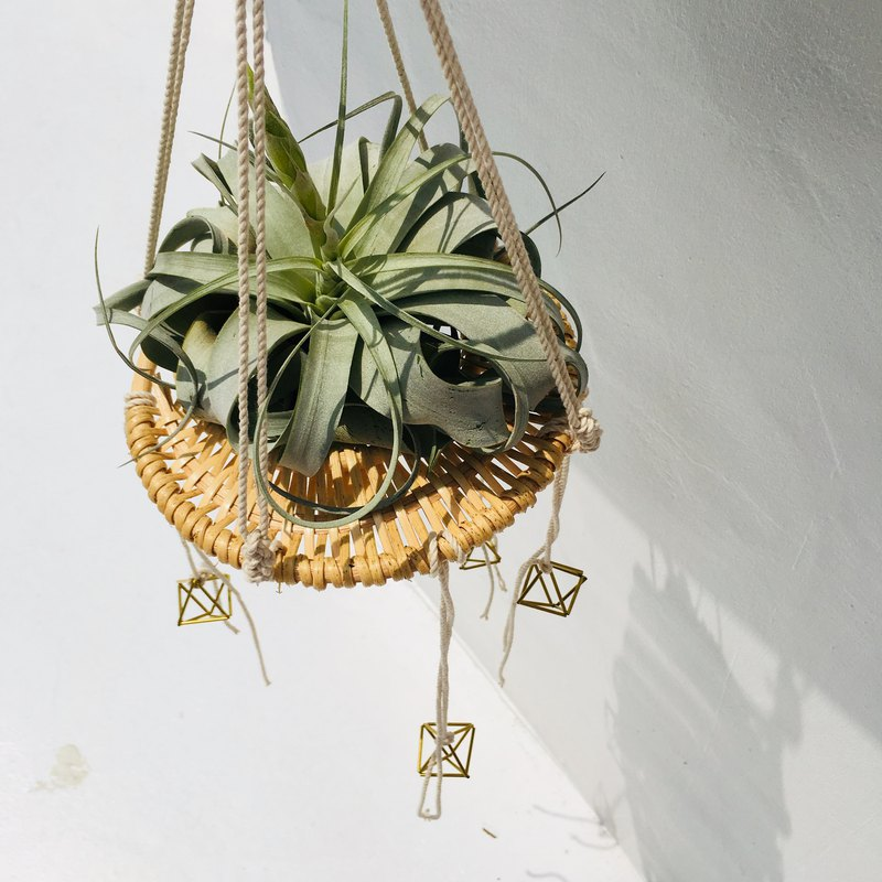 Nordic style air pineapple hanging ornament lace knot plant ornaments home decoration shop decoration