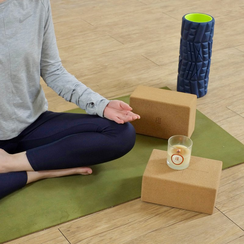 High-density softwood yoga bricks | Aggravated high-density healing yoga accessories with oak bark