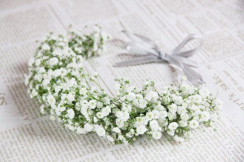 │ flower corolla ││ ♥ Baby Breath wreath corolla ♥ ♪ ♪ can be customized
