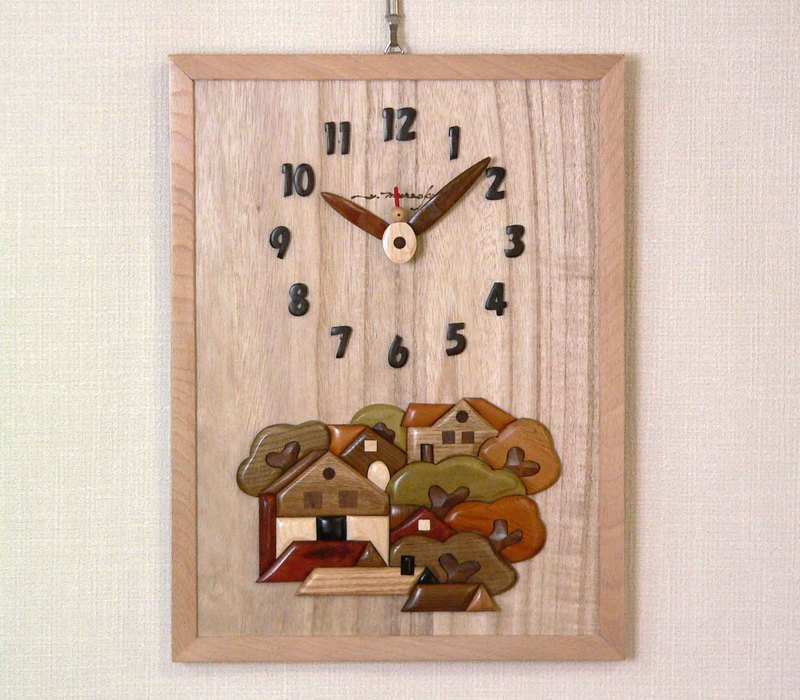 Woody picture & clock