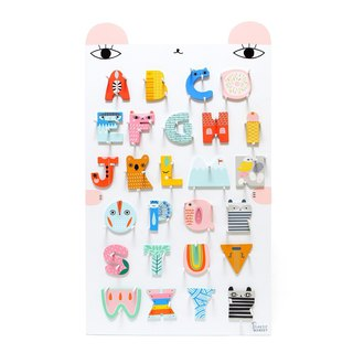 Dutch Petit Monkey ─ styling wood letter A~Z big collection + ABC letter bear rack
