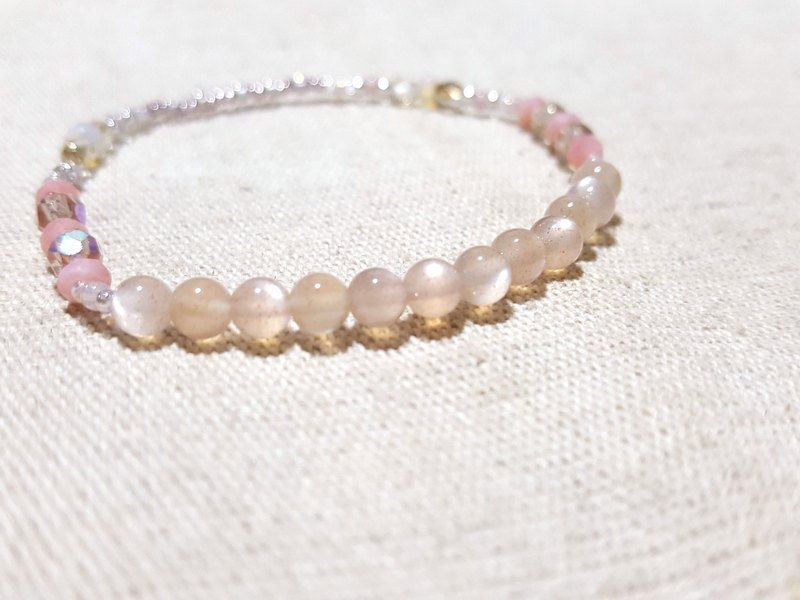 Orange Moonstone x Pink Opal x Recreational Opal - Light and beautiful