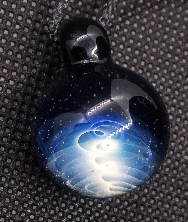boroccus  The universe  The nebula design  Thermal glass pendant.