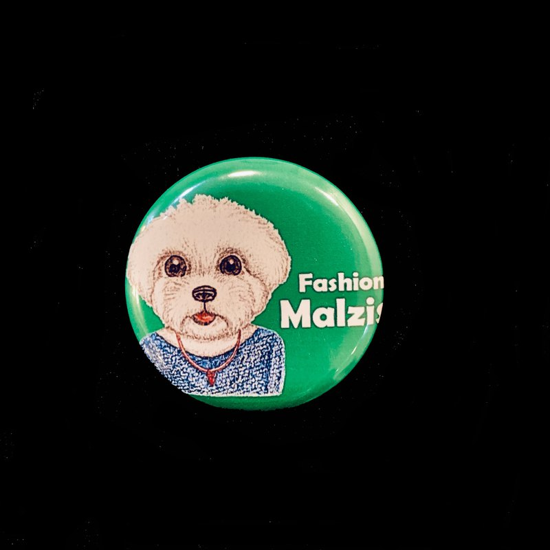 Hand-painted illustration small badge pin badge | fashion cats and dogs ~ Malzis