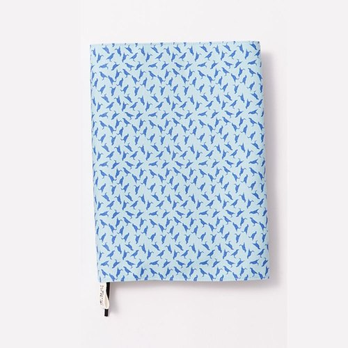 20K Book Cover / Crested Myna No.4 / Sea Blue