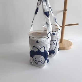 Valentine drink bag _ smile 2 with environmentally friendly waterproof beverage bag _2 cup can be 1 cup _ environmentally friendly small things