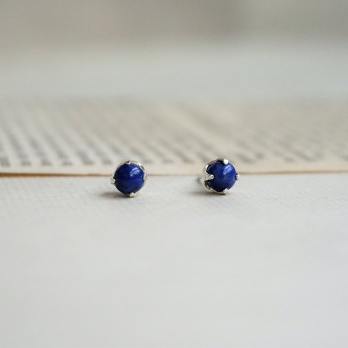 << Birthstone in December - Lapis Lapis >> birthstone series Birthstone earrings