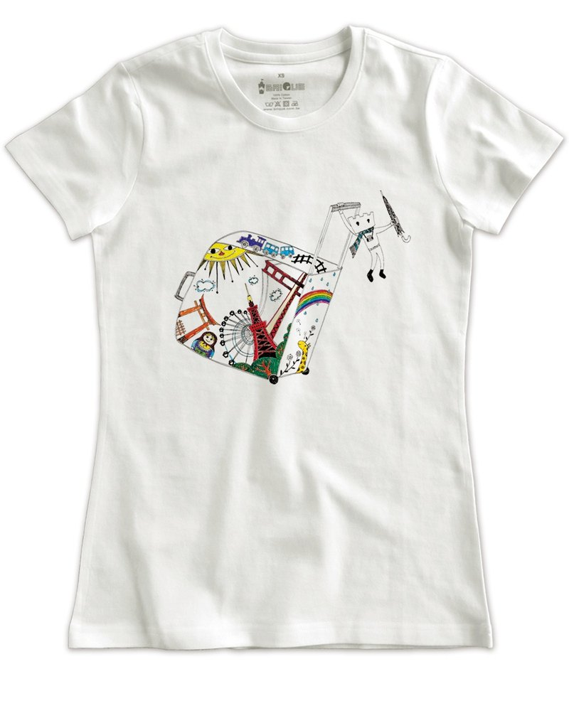 Classic white short-sleeved T-shirt_City Travel (Female M without inventory)