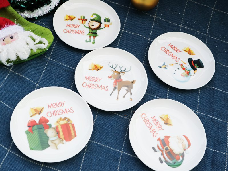 Merry Christmas Cup Set (1 cup 5VCD) Christmas Wrap