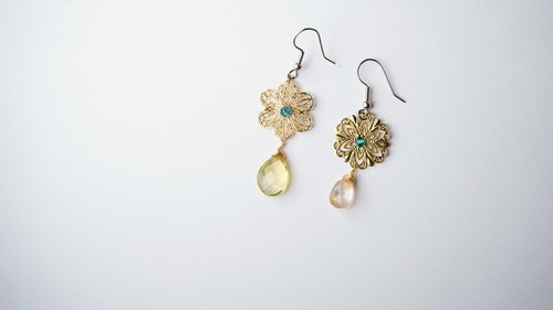 Summer [X] handmade natural stone earrings