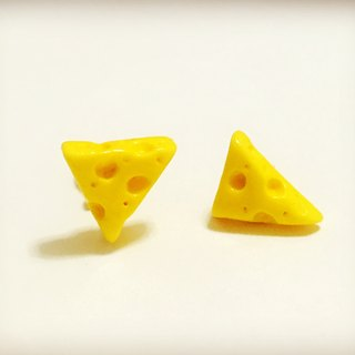 Cheese cheese earrings group (2 groups) (can be changed to ear clip type) ((full 600 random send mystery gift)