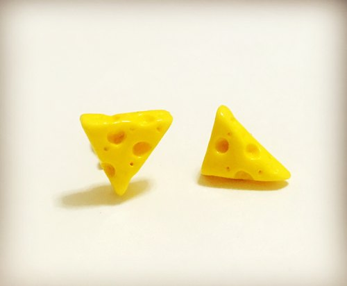 Cheese cheese earrings group (group 2) (can be changed ear clip-on) ((over 600 were sent mysterious small gift))