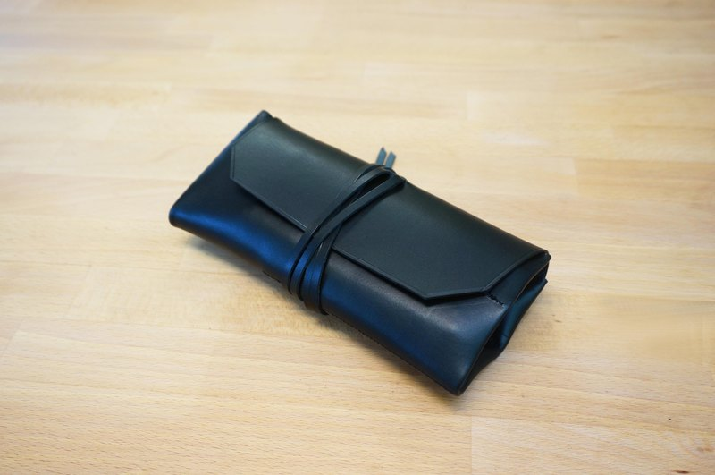 極簡植鞣鉛筆袋 leather  pen rolls
