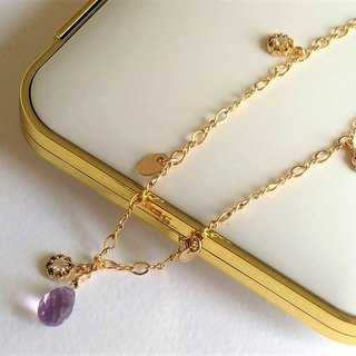Spiritual Healing A Level Amethyst 14K Gold Bracelet Birthday Gift Girlfriend Gift