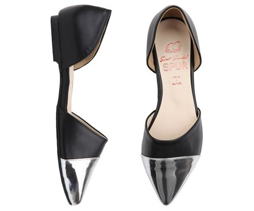 NEW SPRING - Pointy hommage lll flats HS7099 SILVER