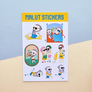 2011 | bearded figure 2 | stickers |