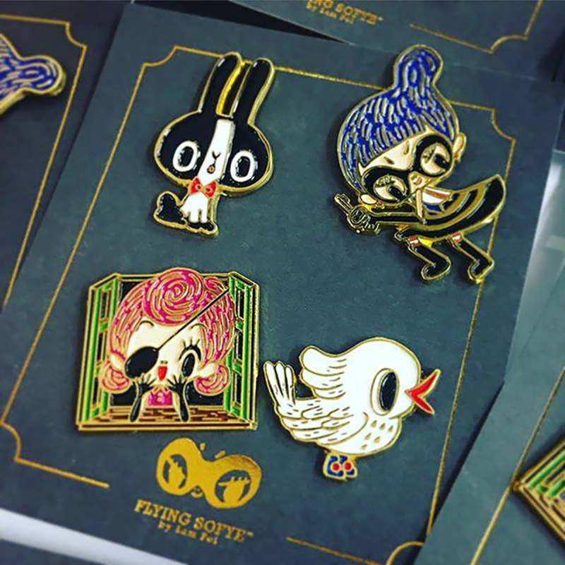 Enamel Pin -  【Flying Sofye series】 BIRD Characters