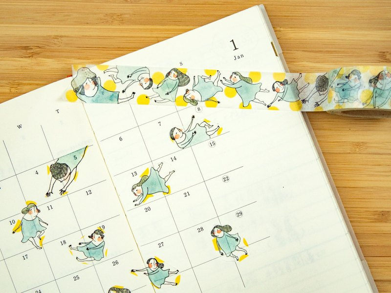 "Washi tape - ""Fly me to the Moon"" Masking Tape"