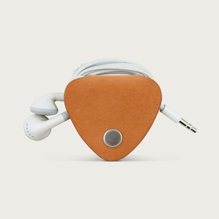 Headphone harvester / leather storage sets - Camel