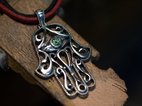 Hardwired | Hand of Fatima | Shafres | Silver 925 | Pendant | Necklace (Single Pendant)