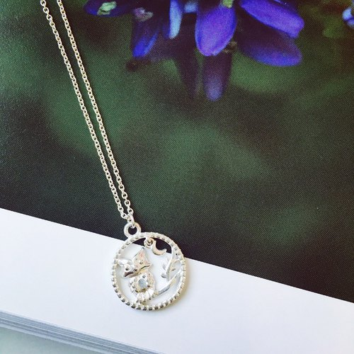 925 sterling silver month dance [owl necklace]