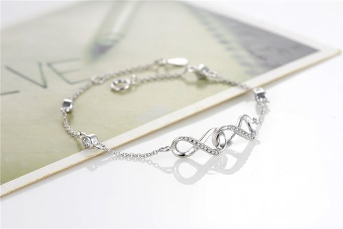 Infinite Love 925 Sterling Silver Mathematical Symbol Element Bracelet