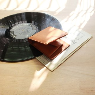 Decanates -Picture & Coin Layer (pics & coin) - Light Brown - Leather / Wallets / Cards / Fashion / Handmade