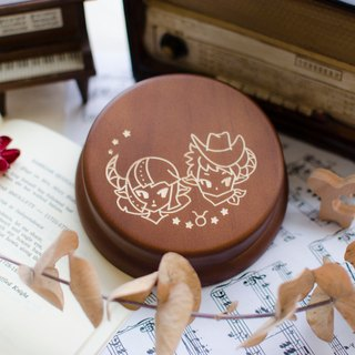 [Birthday Gift, Commemorative Gift, Christmas Gift] 12 Zodiac Taurus / Music Box