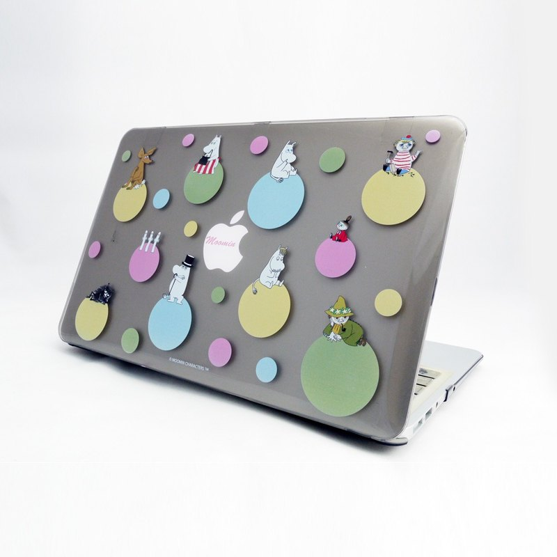 "Moomin Lulu meters genuine license - Macbook Crystal Shell: [Rainbow Bubble] (gray) ""Macbook 12"" / 11 """