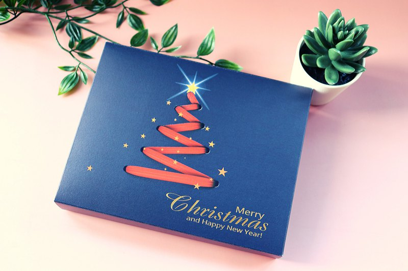 Christmas and New Year limited edition bronzing card box | Additions | MACHIEN