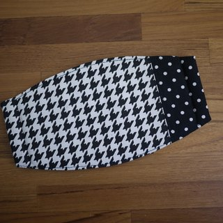 Everyday Essentials = Handmade Masks = Temperament Houndstooth = Black