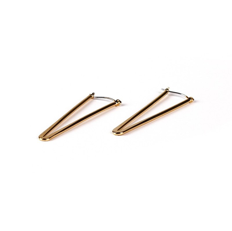Minimal Chaka Earrings - Chrome gold