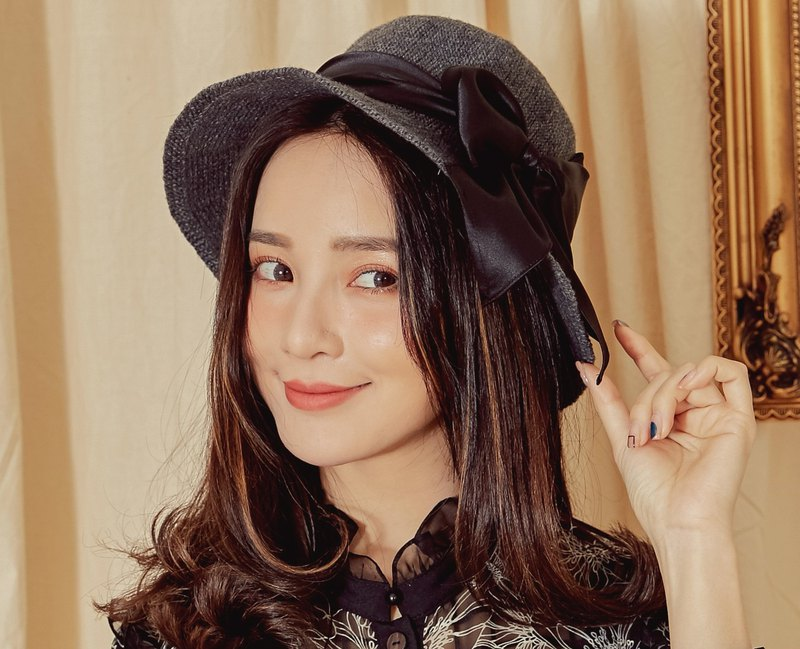 MIT Autumn and Winter Bow Shape Cap (R6615F)