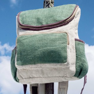 Cotton and linen stitching design backpack / shoulder bag / ethnic mountaineering bag / patchwork bag / computer bag - desert oasis