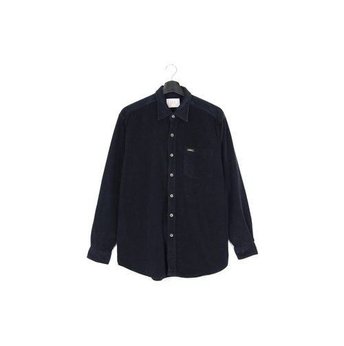 Back to Green :: Corduroy Black LEE Shirt // Men and Women Wearable // vintage (SH-09)