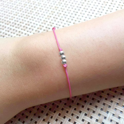 Silver Beads Bracelet | Friendship Bracelet